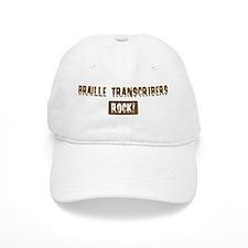 Braille Transcribers Rocks Baseball Cap
