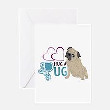 HUG A PUG Greeting Card