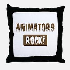 Animators Rocks Throw Pillow
