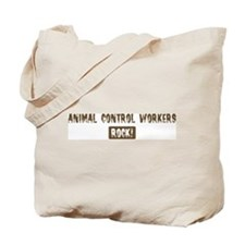 Animal Control Workers Rocks Tote Bag