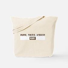 Animal Control Workers Rocks Tote Bag