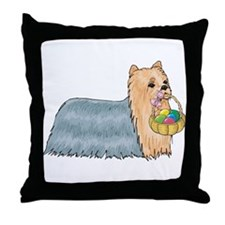 Yorkshire Terrier Easter Throw Pillow