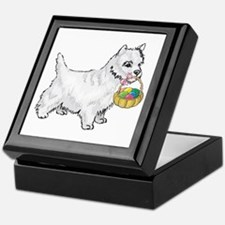 Westie Easter Keepsake Box