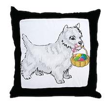 Westie Easter Throw Pillow