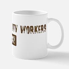 Airport Security Workers Rock Mug