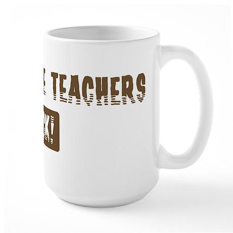 Agriculture Teachers Rocks Large Mug