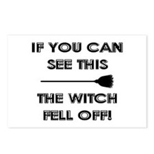 THE WITCH FELL OFF! Postcards (Package of 8)