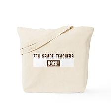 7th Grade Teachers Rocks Tote Bag