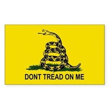 Gadsden Flag-DONT TREAD ON ME Rectangle Decal