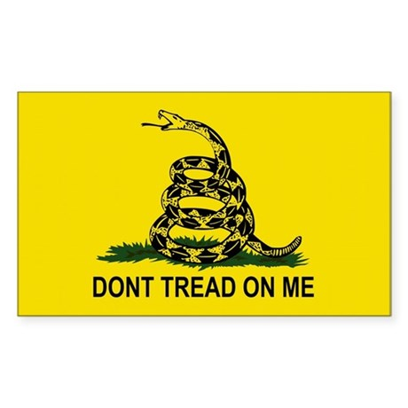 Gadsden Flag-DONT TREAD ON ME Rectangle Sticker