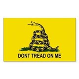 Dont tread on me sticker Single