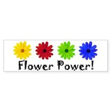 Flower Power Bumper Bumper Sticker