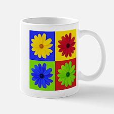 Retro Daisy Flower Mug