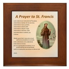 A Prayer to St. Francis Framed Tile