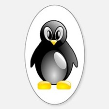 Bright Penguin Oval Decal