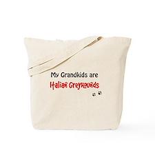Italian Greyhound Grandkids Tote Bag