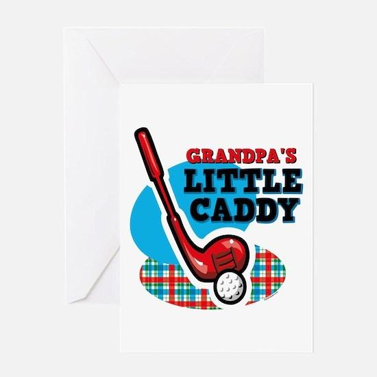 Grandpa's Little Caddy Greeting Card