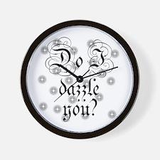 Twilight Do I Dazzle You Wall Clock
