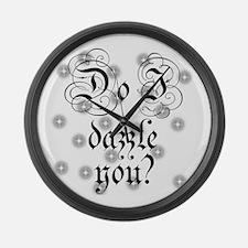 Twilight Do I Dazzle You Large Wall Clock