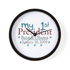 My 1st President (Obama Inauguration) Wall Clock
