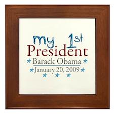 My 1st President (Obama Inauguration) Framed Tile