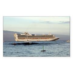 Cruise Ship Rectangle Sticker 10 pk)