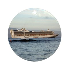 Cruise Ship Ornament (Round)