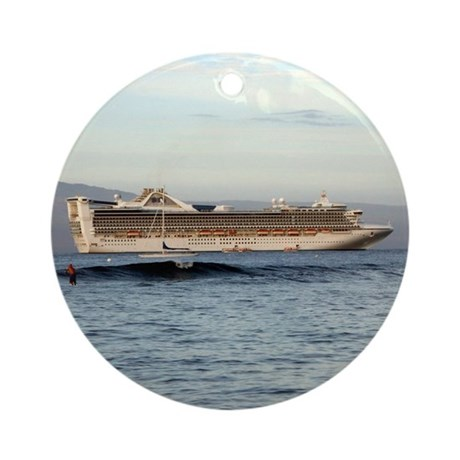 Cruise Ship Ornament (Round)
