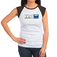 """""""Why do it at all?"""" Women's Cap Sleeve T"""