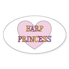 Musicolicious Harp Gift Oval Decal