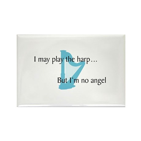 Musicolicious Harp Gift Rectangle Magnet