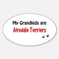 Airedale Grandkids Oval Decal