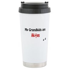 Akita Grandkids Travel Mug