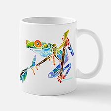 Crazy Tree Frogs Blue Mug