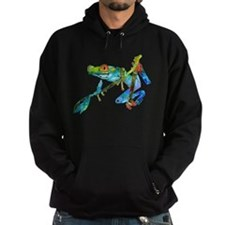 Crazy Tree Frogs Blue Hoodie