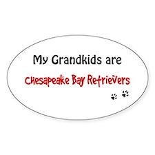Chessie Grandkids Oval Decal