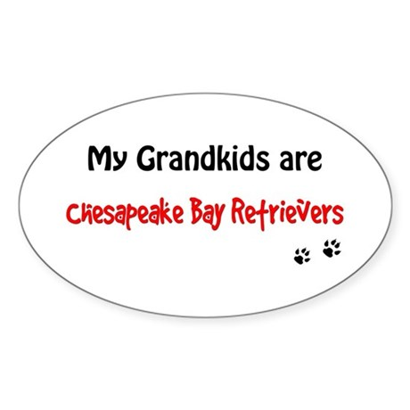 Chessie Grandkids Oval Sticker