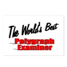 """""""The World's Best Polygraph Examiner"""" Postcards (P"""