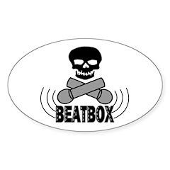 Beatbox Oval Sticker