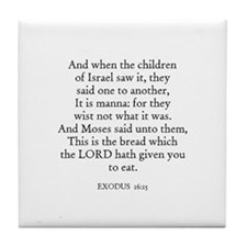 EXODUS  16:15 Tile Coaster