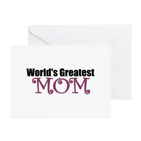 World's Greatest Mom Greeting Cards (Pk of 20)