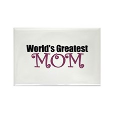 World's Greatest Mom Rectangle Magnet