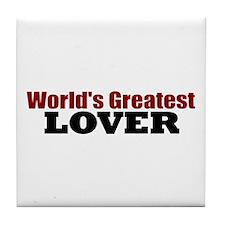 World's Greatest Lover Tile Coaster