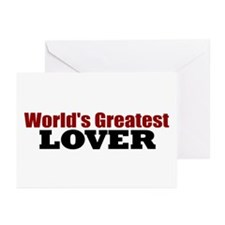 World's Greatest Lover Greeting Cards (Pk of 10)