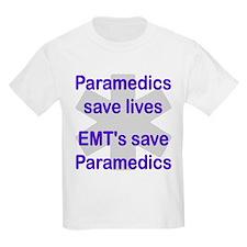Medics save lives EMT's save  Kids T-Shirt