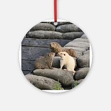 Groundhog Family II Ornament (Round)