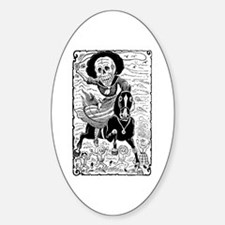 Calavera Revolucionaria Oval Stickers