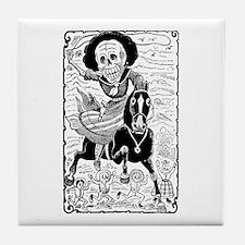 Calavera Revolucionaria Tile Coaster