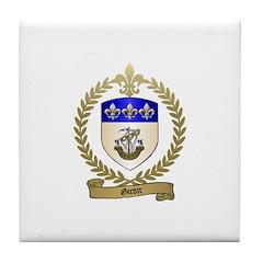 GIROIR Family Crest Tile Coaster
