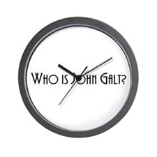 Who is John Galt? Atlas Shrugged Wall Clock